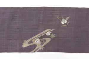 工芸きもの野口製 麻名古屋帯地「流水葵桐散」のサブ4画像