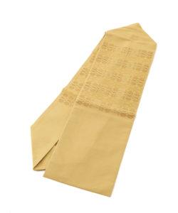 人間国宝 宮平初子作 首里花織紬名古屋帯のメイン画像
