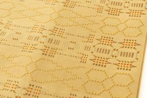 人間国宝 宮平初子作 首里花織紬名古屋帯のサブ2画像