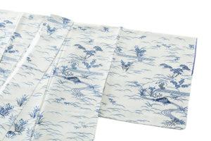 大澤澤蔵作 本藍染訪問着のサブ1画像