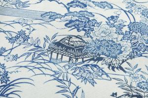 大澤澤蔵作 本藍染訪問着のサブ5画像