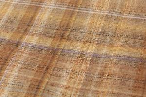 人間国宝 志村ふくみ作 紬着物 「落栗」のサブ4画像