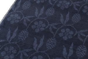 結城紬 着尺 160亀甲総絣 笹蔓紋のサブ2画像