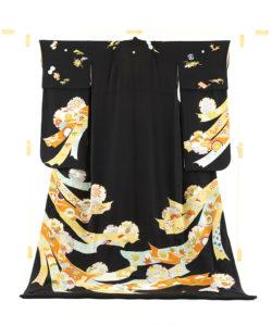舞妓衣裳 裾引き 熨斗目柄のメイン画像