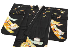 舞妓衣裳 裾引き 熨斗目柄のサブ1画像