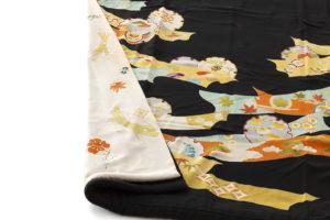 舞妓衣裳 裾引き 熨斗目柄のサブ5画像