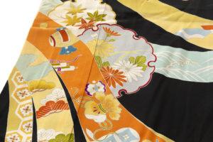 舞妓衣裳 裾引き 熨斗目柄のサブ6画像