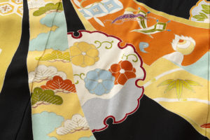 舞妓衣裳 裾引き 熨斗文柄のサブ7画像