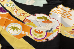 舞妓衣裳 裾引き 熨斗文柄のサブ8画像