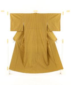 山下めゆ作 本場黄八丈 着物のメイン画像
