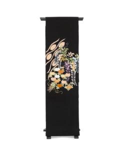 ぎをん齋藤製 縮緬染名古屋帯「献上花」のメイン画像