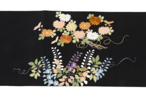 ぎをん齋藤製 縮緬染名古屋帯「献上花」のサブ3画像