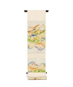 龍村平蔵製 袋帯「可祝獅子文」のメイン画像