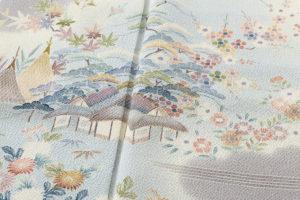 上野為二作 縮緬訪問着のサブ5画像