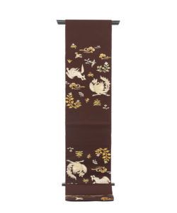 龍村平蔵製 袋帯「木画獅鳳錦」のメイン画像