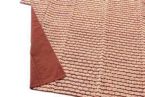 茜染 紬着物のサブ2画像