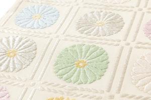 ぎをん齋藤製 袋帯「升目菊」のサブ3画像