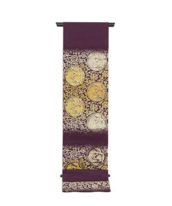 龍村平蔵製 袋帯地「歌仙唐草文」未仕立て品のメイン画像