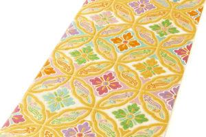 龍村美術織物製 たつむら 袋帯「鳳遊七宝文」のサブ1画像