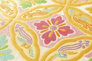 龍村美術織物製 たつむら 袋帯「鳳遊七宝文」のサブ2画像