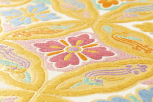 龍村美術織物製 たつむら 袋帯「鳳遊七宝文」のサブ4画像