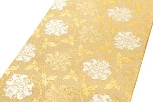 龍村平蔵製 袋帯「金地二重菱大牡丹錦」のサブ1画像