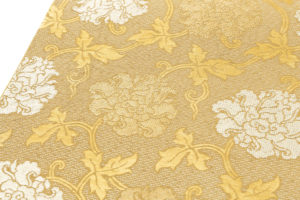 龍村平蔵製 袋帯「金地二重菱大牡丹錦」のサブ2画像