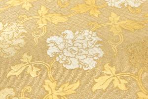 龍村平蔵製 袋帯「金地二重菱大牡丹錦」のサブ3画像
