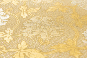龍村平蔵製 袋帯「金地二重菱大牡丹錦」のサブ4画像