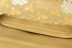 龍村平蔵製 袋帯「金地二重菱大牡丹錦」のサブ5画像