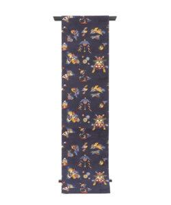 柚木沙弥郎作 型絵染紬名古屋帯のメイン画像