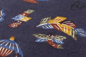 柚木沙弥郎作 型絵染紬名古屋帯のサブ3画像