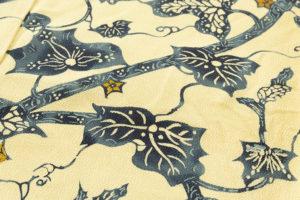 小島悳次郎作 縮緬型絵染訪問着地「瓜唐草紋」のサブ4画像