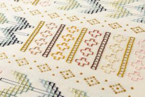 ルバースミヤヒラ・吟子作 首里花織名古屋帯地のサブ3画像