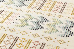 ルバースミヤヒラ・吟子作 首里花織名古屋帯地のサブ2画像