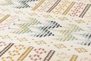 ルバースミヤヒラ・吟子作 首里花織名古屋帯地のサブ4画像