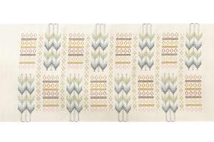 ルバースミヤヒラ・吟子作 首里花織名古屋帯地のサブ5画像