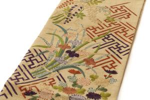 ぎをん齋藤製 紬地刺繍袋帯のサブ1画像