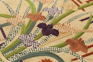 ぎをん齋藤製 紬地刺繍袋帯のサブ2画像