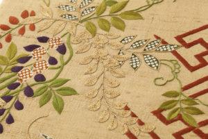 ぎをん齋藤製 紬地刺繍袋帯のサブ4画像