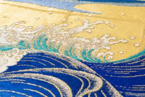 龍村平蔵製 袋帯「永徳波之図」のサブ2画像