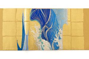 龍村平蔵製 袋帯「永徳波之図」のサブ4画像