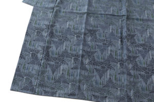 遠藤あけみ作 型絵染紬着物「朔」のサブ2画像