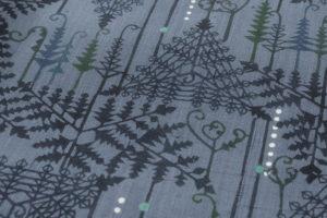 遠藤あけみ作 型絵染紬着物「朔」のサブ6画像