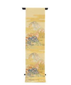 川島織物製 本金箔本極錦 袋帯「新春秋小袖山水」のメイン画像