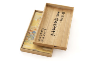 川島織物製 本金箔本極錦 袋帯「新春秋小袖山水」のサブ6画像