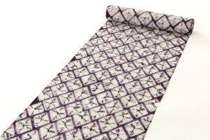 紫根染 奥州紫草絞り 漢方染 着尺のサブ1画像