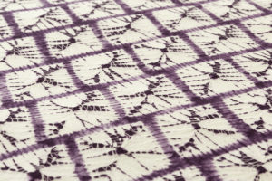 紫根染 奥州紫草絞り 漢方染 着尺のサブ3画像