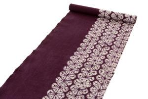 草紫堂製 南部紫根染 綿名古屋帯地のサブ1画像