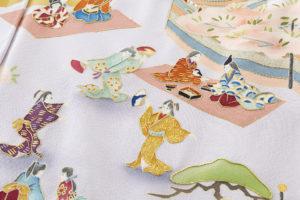 染繍工芸大羊居製 訪問着地「遊楽図」のサブ6画像
